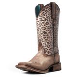 Women's Ariat Boots, Savanna, Distressed Brown, Leopard Tops