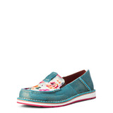 Women's Ariat Cruiser, Pool Blue with Floral Print