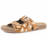Women's Roper Sandal, Desiree, Two Strap Buckle, Hair On