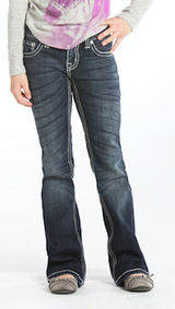 Girls Rock & Roll Jean, Medium Wash, Silver Arrow