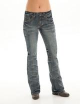 Women's Cowgirl Tuff Jean, Multicolor Cross Pocket