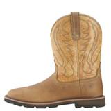 Men's Ariat Boot, Steel Toe, Brown Square, Tan Shaft