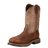 Men's Ariat Boot, Steel Toe, with Chocolate Gator