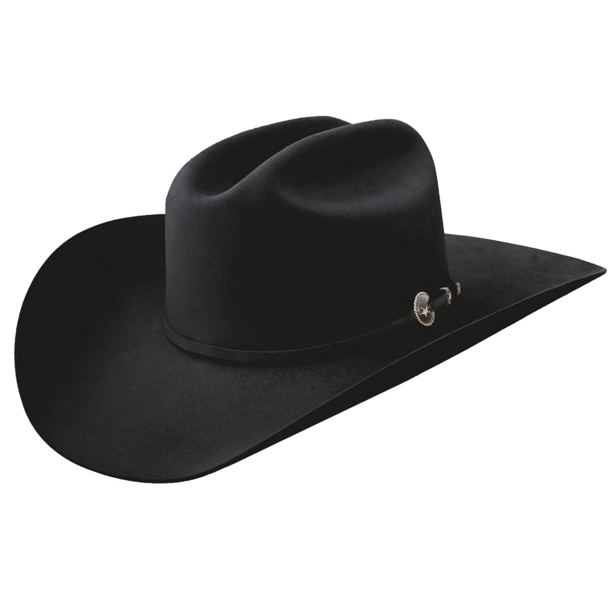 4fa61cad Resistol Felt Hat, Logan, 6X Black, 4