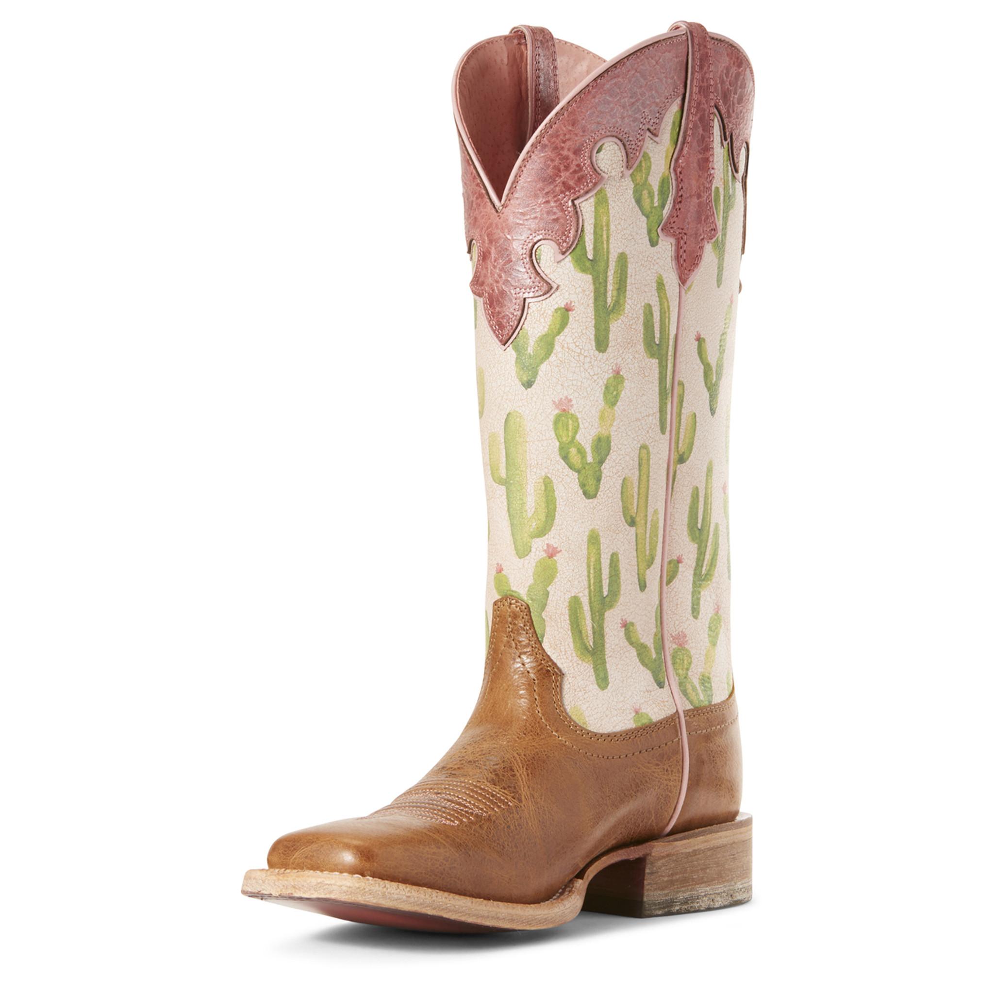 Women's Ariat Boot, Fonda, Tan Vamp
