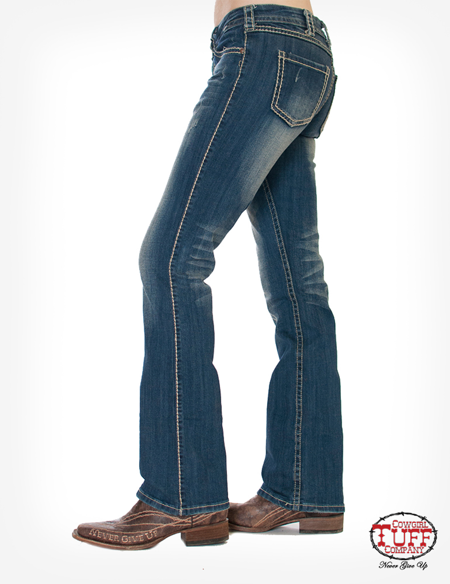 Women's Cowgirl Tuff Jeans, Never Give