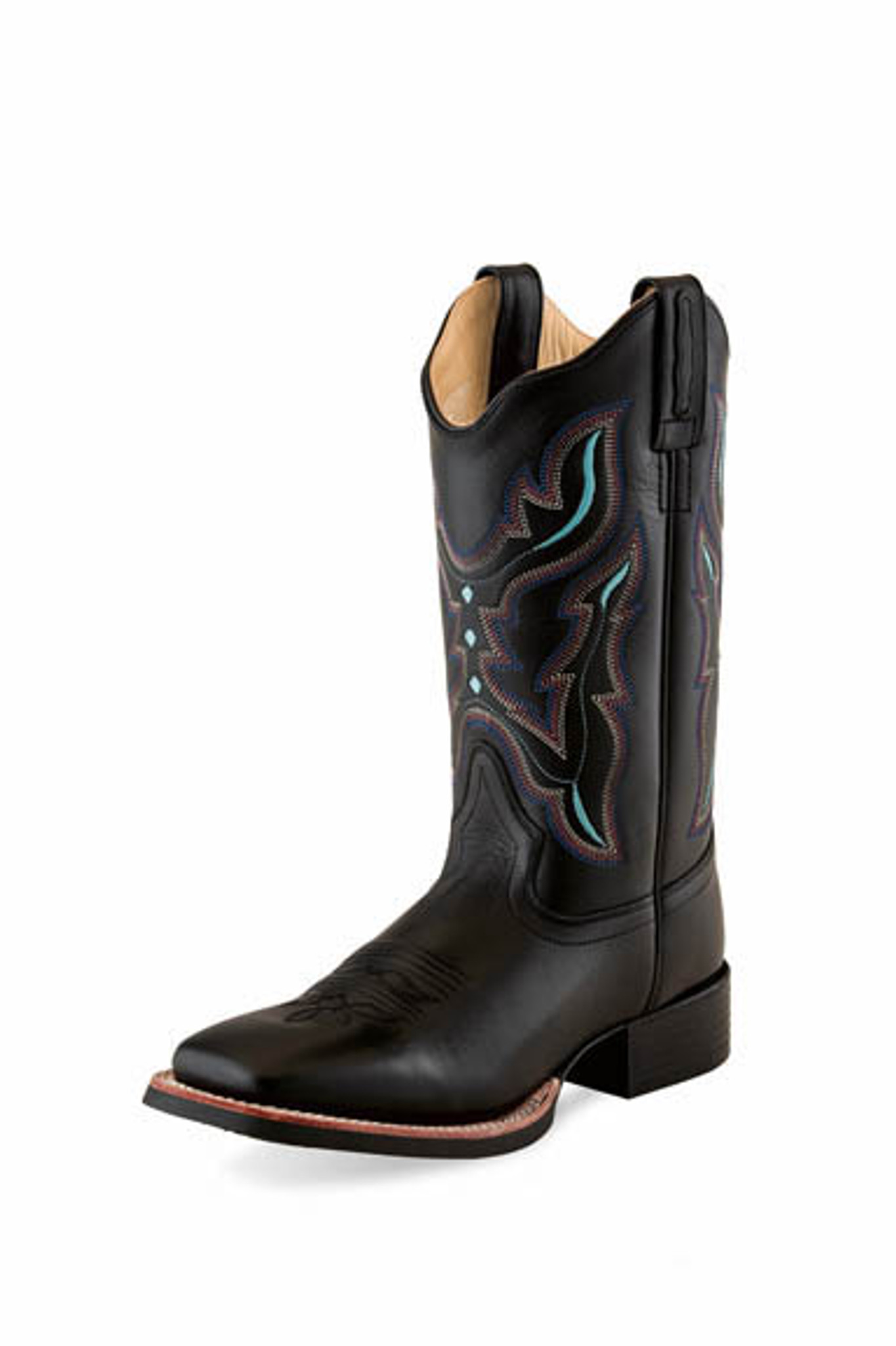 Old West Boot, Square Toe, Black