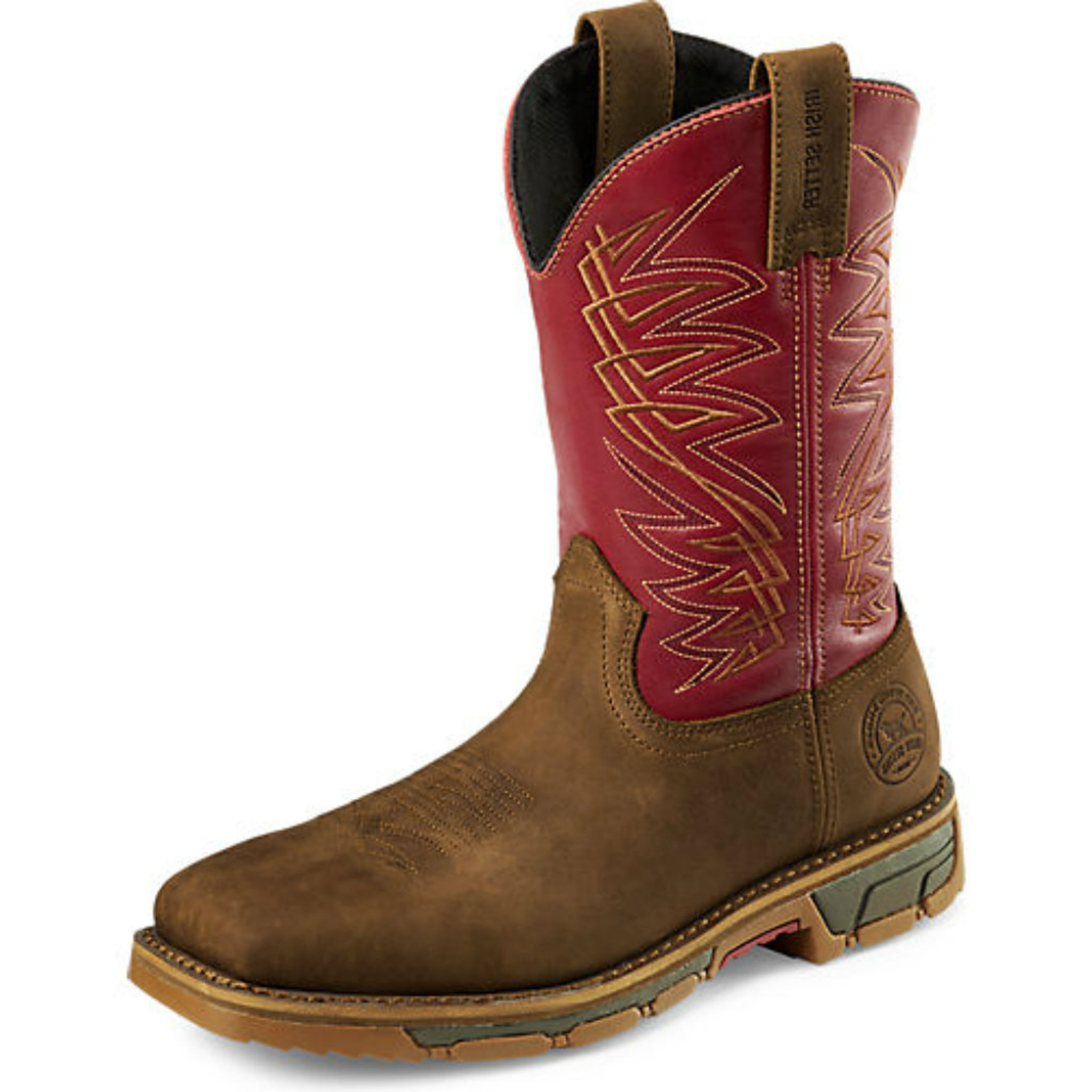 high quality wholesale dealer new style Men's Red Wing Boot, Steel Toe, Brown Square with Red Shaft