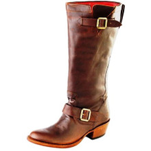 Women's Macie Bean Boot, Dark Brown w/ Buckle