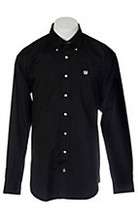 Men's Cinch L/S, Solid Pinpoint Black