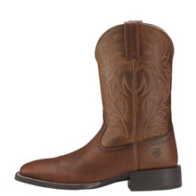 Men's Ariat Boot, Solid Brown, Wide Square Toe, Rubber Sole