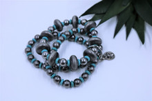 West & Co. Bracelet, 3, Turquoise and SIlver