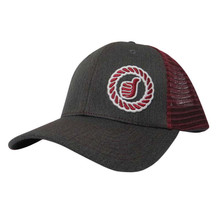 Men's Dally Up Cap, Burgandy, Gray and Silver