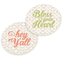 PGD Car Coaster Set, Southern Sayings