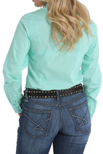 Women's Cinch L/S, Mint Print