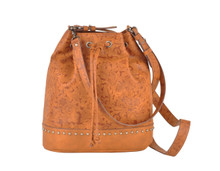 Most Wanted USA Purse, Tan with Floral Design