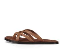 Women's Sanuk Flip Flop,Yoga Strappy Brown with Brown Criss Cross Strap
