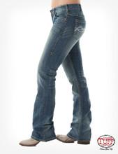 Women's Cowgirl Tuff Jean, Don't Fence Me In, Medium Wash