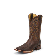 Men's Nocona Boot, Dark Brown Square Toe, Cognac Zulu