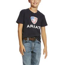 Kids Ariat Tee, Liberty USA, Navy
