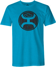 Kids Hooey Tee, Turquoise with Black Logo