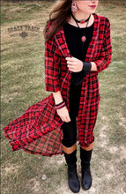 Women's Crazy Train Duster, Mad For Plaid