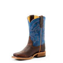 Kids Anderson Bean Boot, Brown Vamp with Blue Mad Dog Shaft