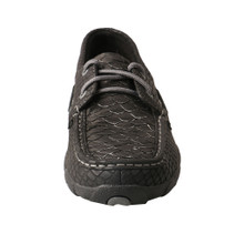 Women's Twisted X Driving Moc, Black and Gray Fish, Boat Shoe
