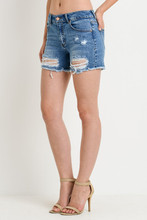 Women's C'est Toi Shorts, Distressed, Mid Rise