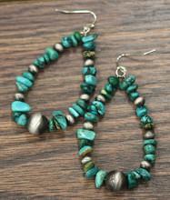 Isac Trading Earrings, Teardrop Turquoise Stones