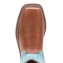 Women's Ariat Boot, Primrose, Brown with Turquoise Shaft