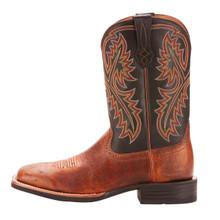Men's Ariat Boot, Quickdraw, Smooth Brown Ostrich, Black Shaft