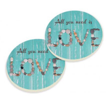 PGD Car Coaster Set, All You Need is Love