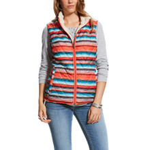 Women's Ariat Vest, Serape and Cream Sherpa, Reversible