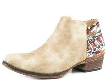 Women's Roper Ankle Boot, Tan with Serape Heel