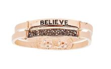 Ethel & Myrtle Bracelet, Rose Gold, Believe, Snap