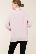 Women's Entro Pullover, 1/2 Zip, Athletic Material