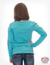 Gilrs Cowgirl Tuff L/S, Turquoise, It's A Spirit