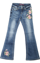 Girls Grace In LA Jean, Bootcut, Pink Rose Embroidery