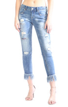 Women's Grace In LA Jean, Skinny with Frayed Hems