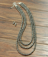 Isac Trading Necklace, Navajo Pearls, 3 Strand, 32""