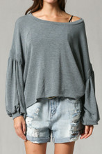 Women's By Together L/S, Scoop Neck, Puff Sleeve