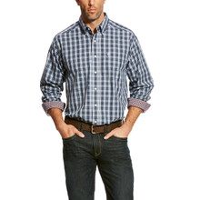 Men's Ariat L/S, Zender, Blue and White Plaid