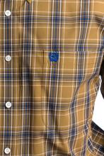 Men's Cinch L/S, Tan and Blue Plaid