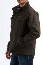 Men's Cinch Jacket, Canvas, Brown with Brown Logo