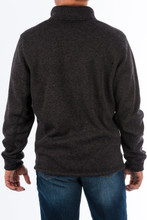 Men's Cinch Pullover, Heathered Black, 1/4 Zip