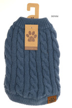 C.C. Dog Sweater, Solid