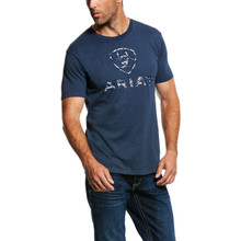Men's Ariat Tee, Navy, Liberty USA