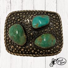 Paige Wallace Buckle, 3 Turquoise Stones