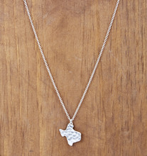 West & Co Necklace, Silver Hammered Texas